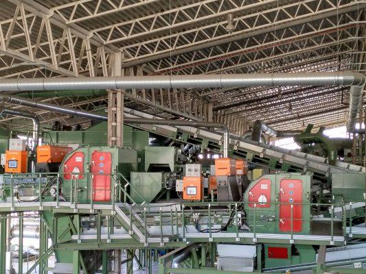 Las-Dehesas工厂安装了AUTOSORT分选设备,实现了自动化分选和回收