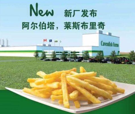 Cavendish Farms的新薯条加工厂