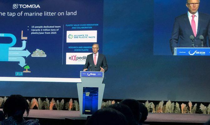陶朗首席执行官史岱峰先生在世界海洋大会上做出40%回收率承诺